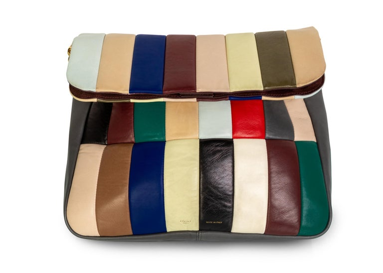 Celine Phoebe Philo Multi Gourmette Patchwork Gold Chain Strap Shoulder Bag,2012 For Sale 1