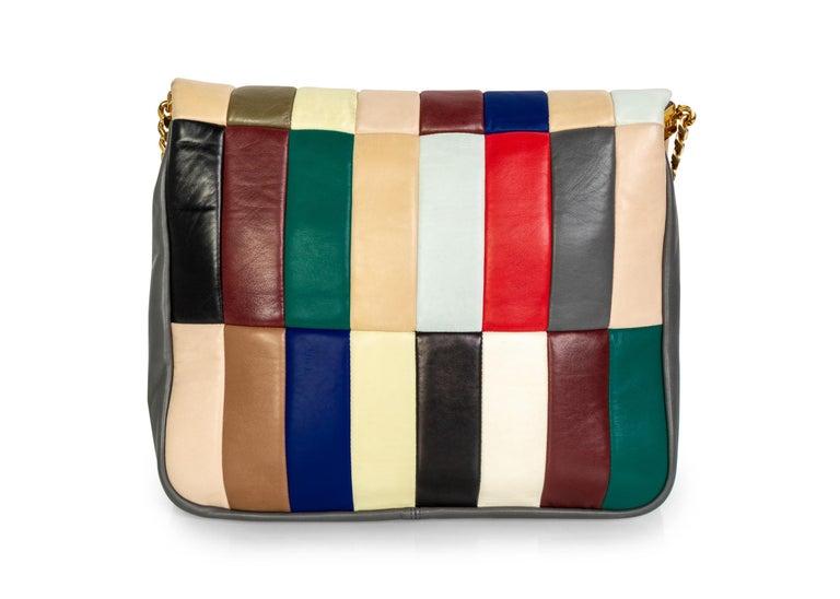 Celine Phoebe Philo Multi Gourmette Patchwork Gold Chain Strap Shoulder Bag,2012 For Sale 2