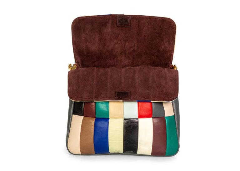 Celine Phoebe Philo Multi Gourmette Patchwork Gold Chain Strap Shoulder Bag,2012 For Sale 3