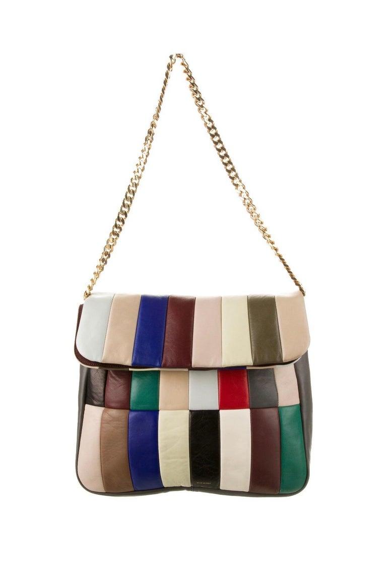 Celine Phoebe Philo Multi Gourmette Patchwork Gold Chain Strap Shoulder Bag,2012 For Sale 4
