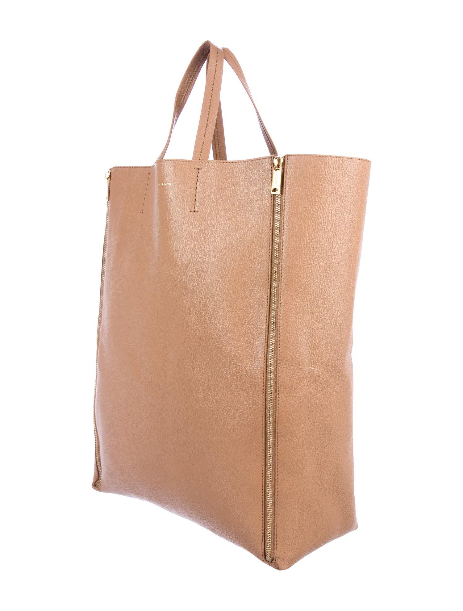 6bba0ae94 Celine Phoebe Philo NEW Tan Cognac Leather Gold Zipper Carryall Travel Tote  Bag at 1stdibs