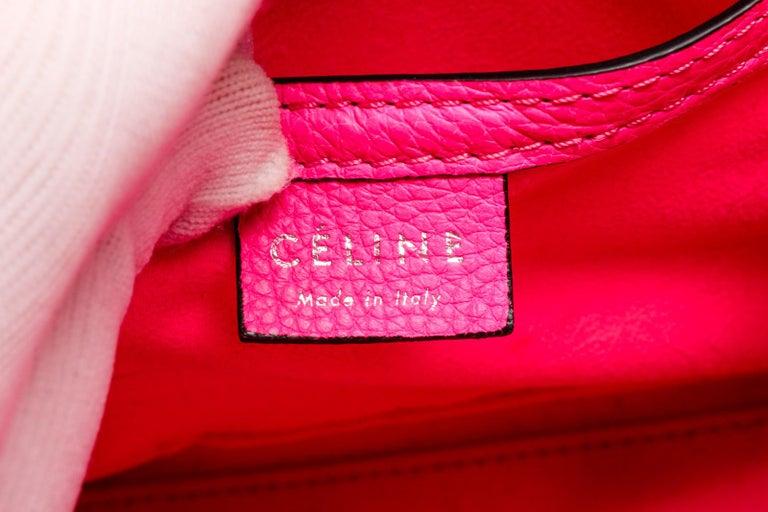 Céline Pink Leather Nano Luggage Tote Cross Body Bag 2