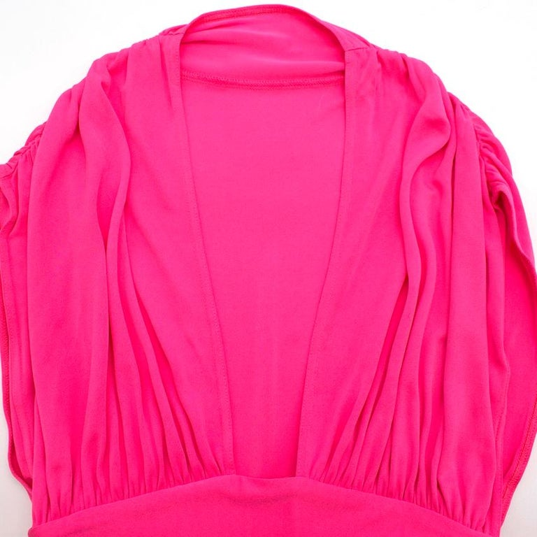 Celine Pleated Pink Dress - Size US 8 In New Condition For Sale In London, GB