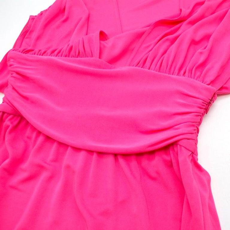 Women's Celine Pleated Pink Dress - Size US 8 For Sale