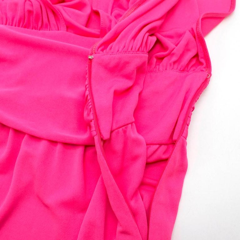 Celine Pleated Pink Dress - Size US 8 For Sale 1