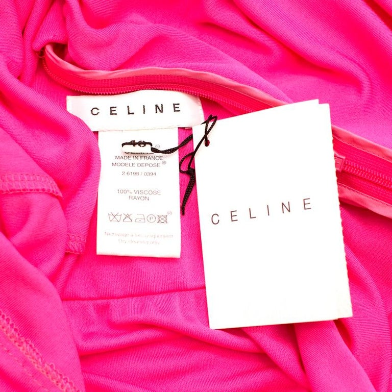 Celine Pleated Pink Dress - Size US 8 For Sale 2