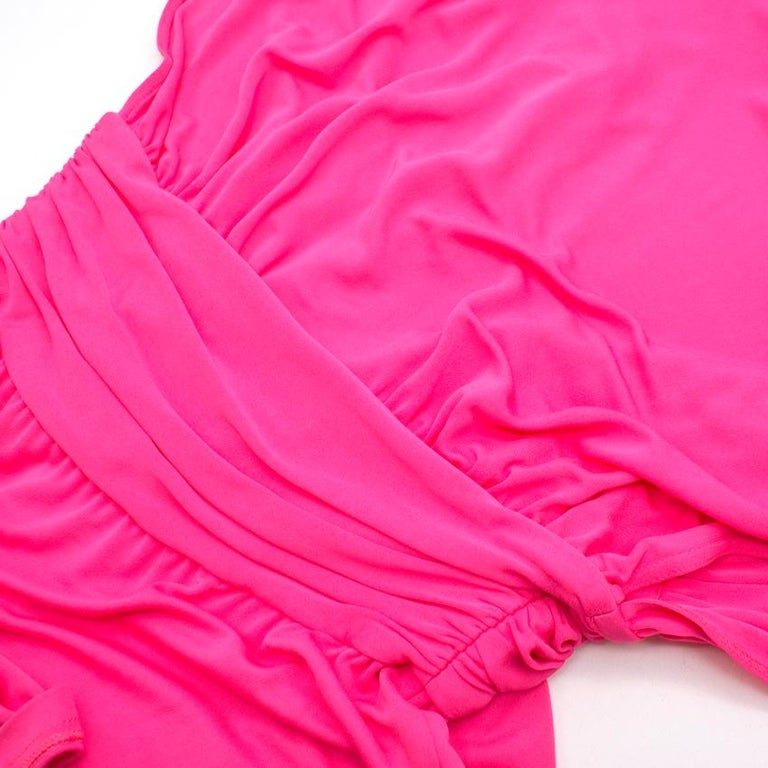 Celine Pleated Pink Dress - Size US 8 For Sale 3