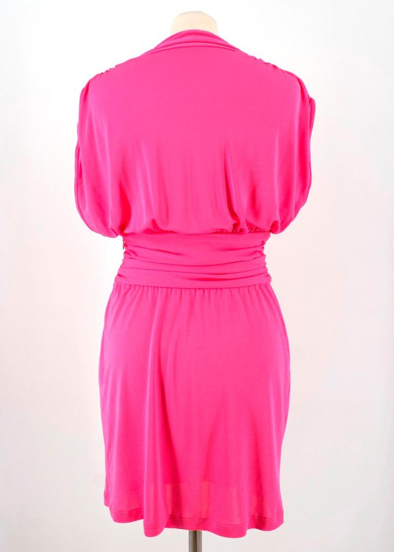 Celine Pleated Pink Dress - Size US 8 For Sale 5