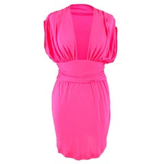 Celine Pleated Pink Dress - Size US 8