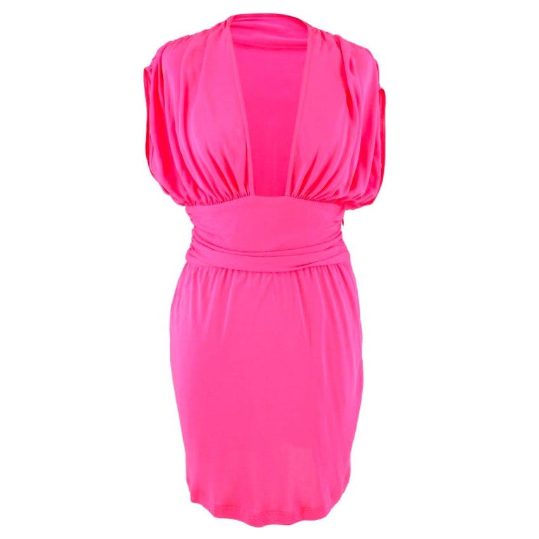Celine Pleated Pink Dress - Size US 8 For Sale