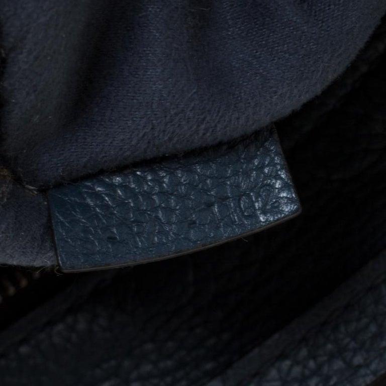 Celine Prussian Leather Nano Luggage Tote For Sale 1