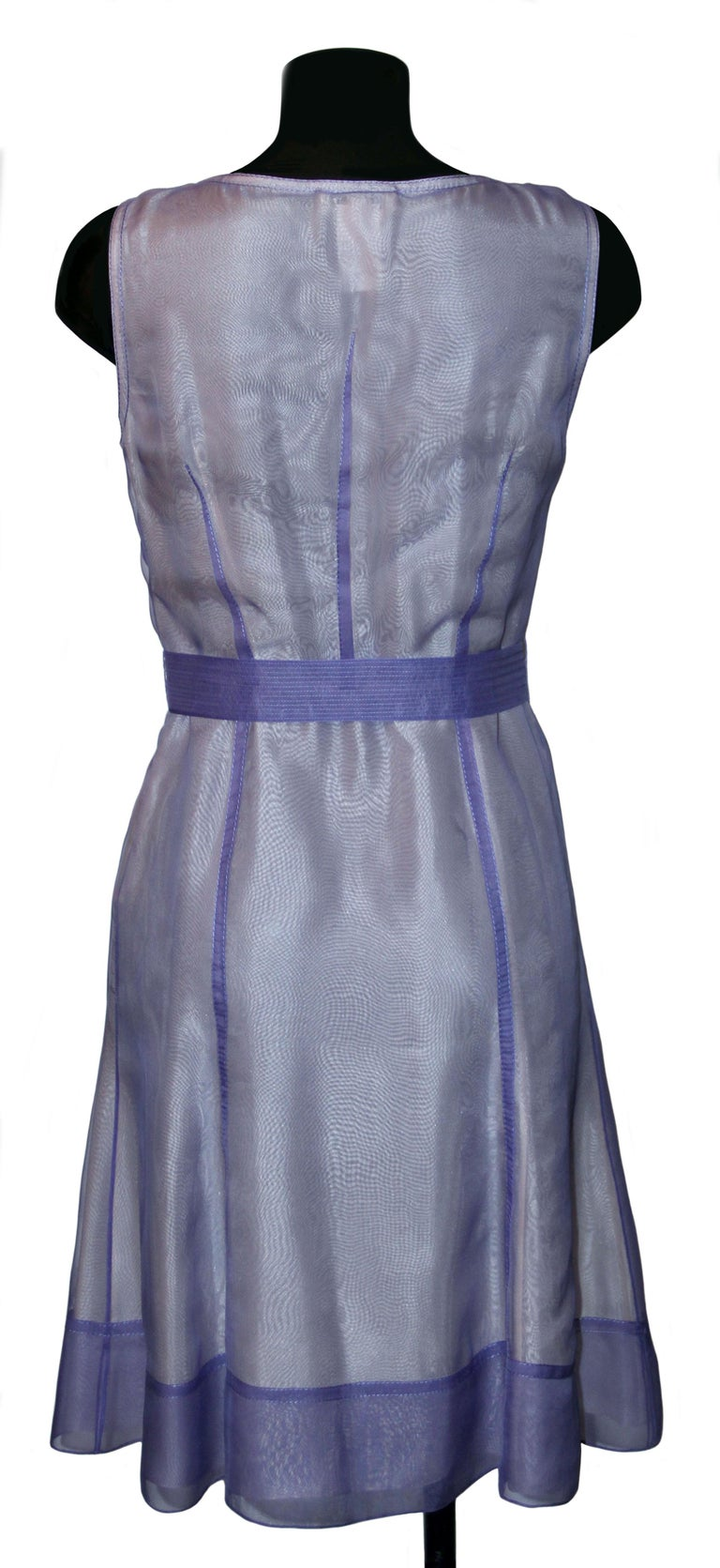 Women's Celine Purple Silk Dress and Coat Ensemble For Sale