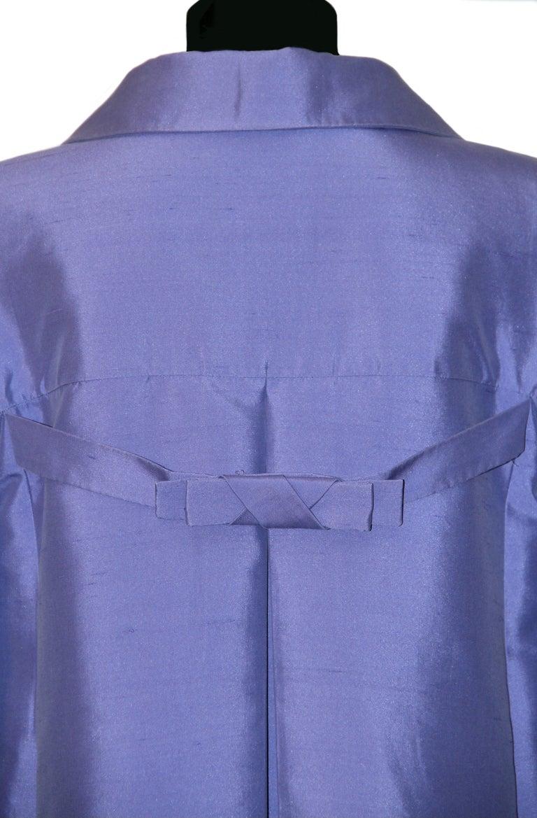 Celine Purple Silk Dress and Coat Ensemble For Sale 1