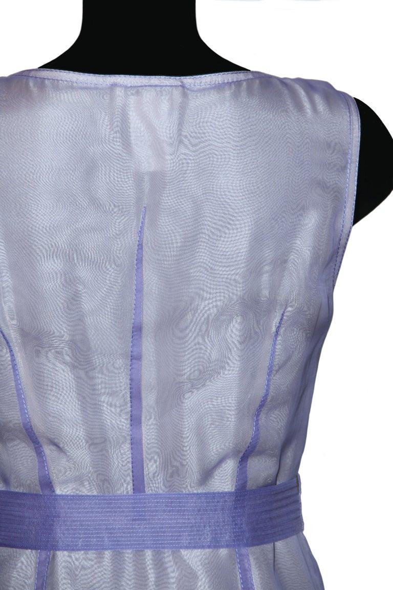 Celine Purple Silk Dress and Coat Ensemble For Sale 2