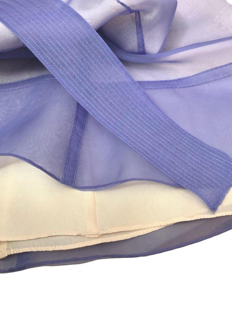 Celine Purple Silk Dress and Coat Ensemble For Sale 3