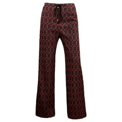 Celine Red/Black Tweed Pants sz FR34