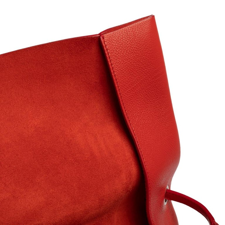 Celine Red Leather All Soft Shoulder Bag For Sale 10