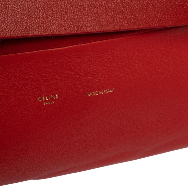 Celine Red Leather All Soft Shoulder Bag For Sale 3
