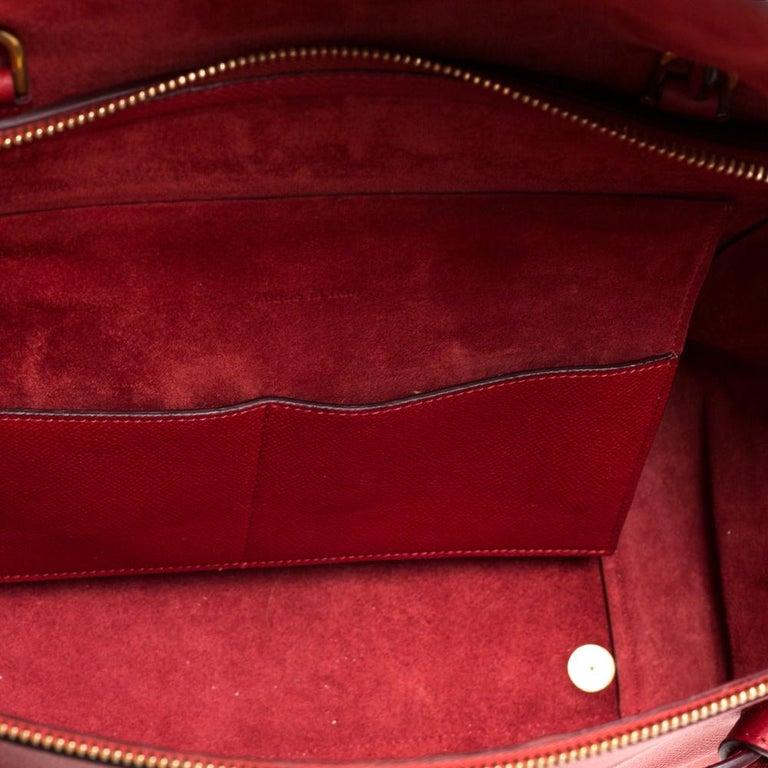 Celine Red Leather Belt Top Handle Bag 3