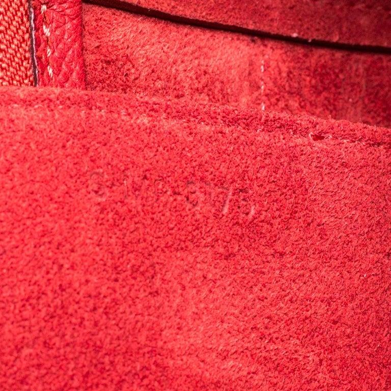 Celine Red Leather Belt Top Handle Bag 4