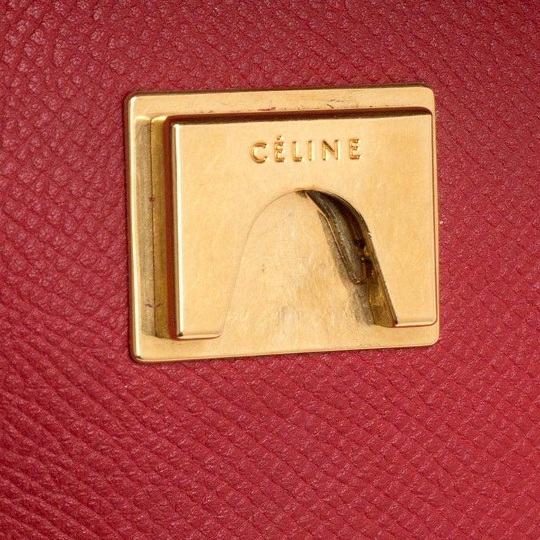 Celine Red Leather Belt Top Handle Bag 5