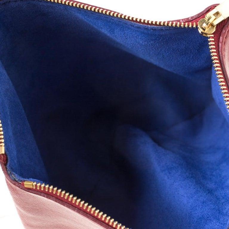 Céline Red Leather Berlingot Clutch For Sale 1