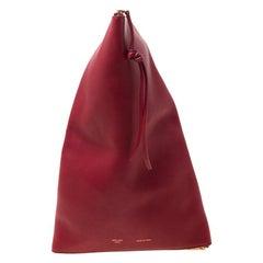 Céline Red Leather Berlingot Clutch