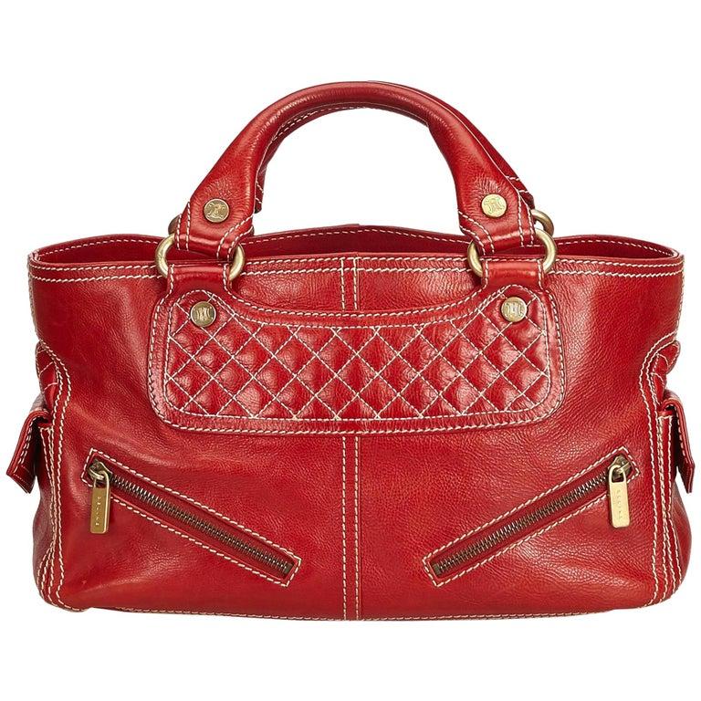 5901661e26b26 Celine Rote Leder Boogie Tasche im Angebot bei 1stdibs