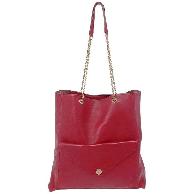 451767764b65e Celine rot Leder Hülle Tasche Shopper im Angebot bei 1stdibs
