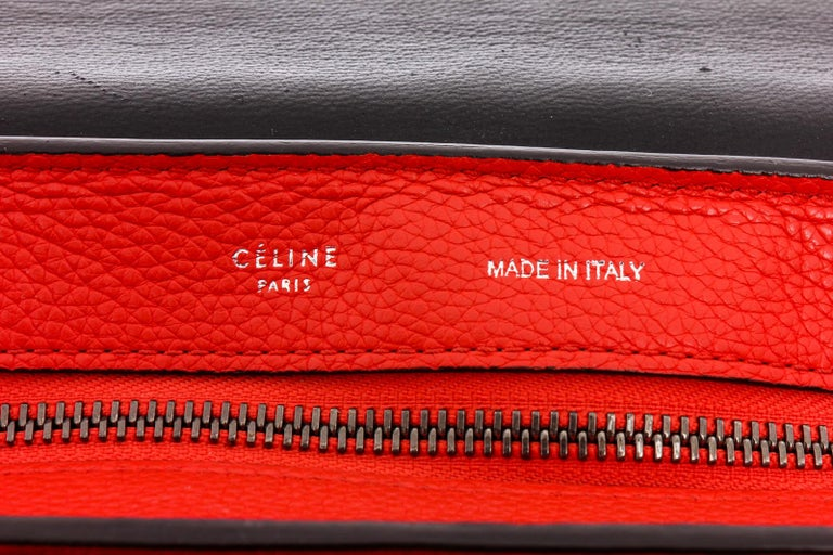 Celine Red Leather Medium Trapeze Tote Bag For Sale 3