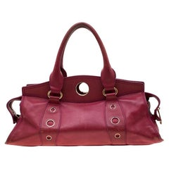 Celine Red Leather Satchel