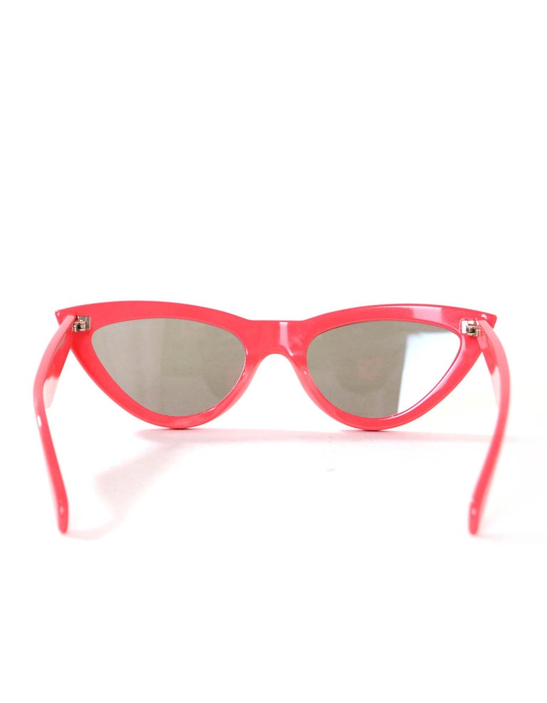 Celine Red Mirrored 56MM Cat Eye Sunglasses rt. $460 For Sale 1