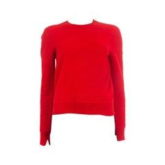 CELINE red wool Crewneck Sweater L
