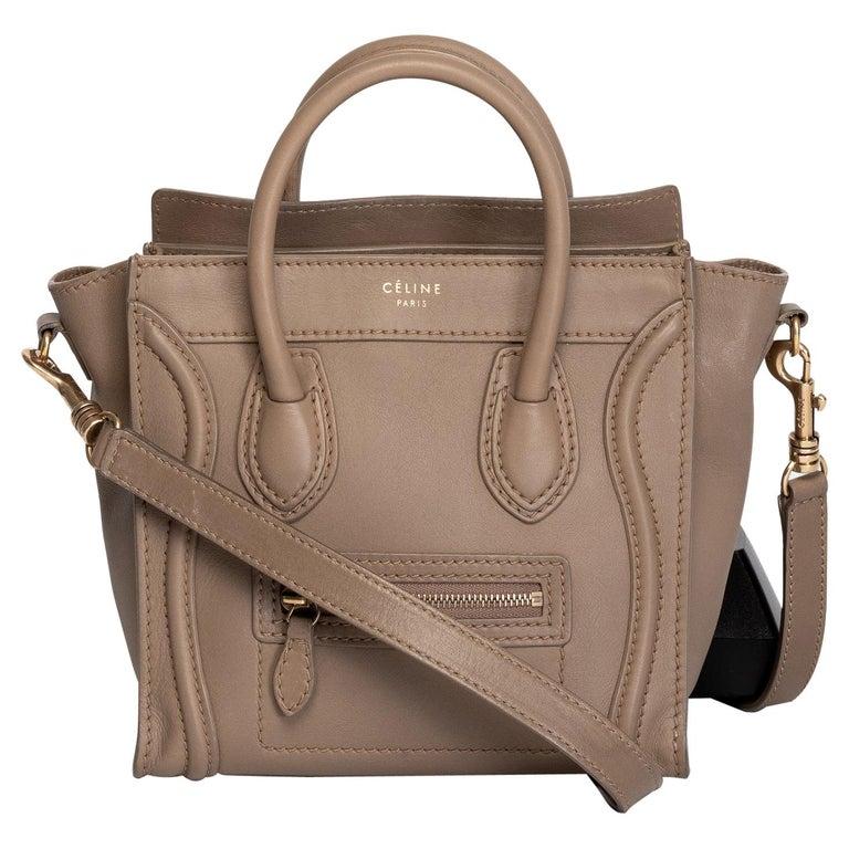 Celine Sand Dune Nano Luggage Bag For Sale