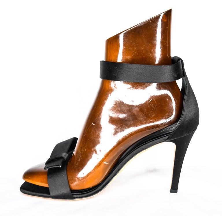 Celine Satin Belt Ankle Strap Heels EU 39 For Sale 1