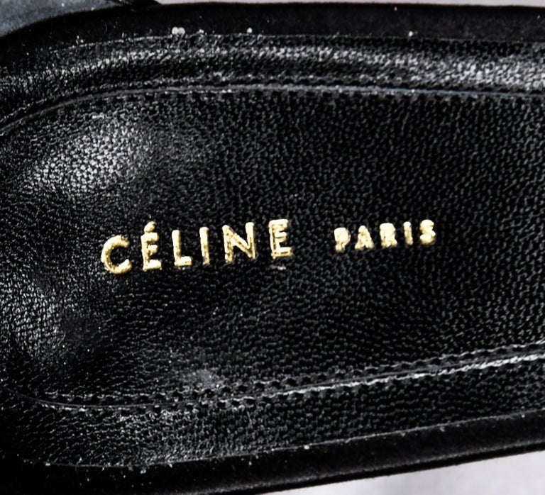 Celine Satin Belt Ankle Strap Heels EU 39 For Sale 2