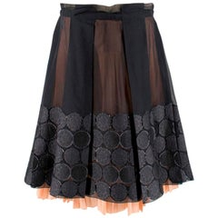 Celine Sheer Circle A Line Skirt - Size US 8