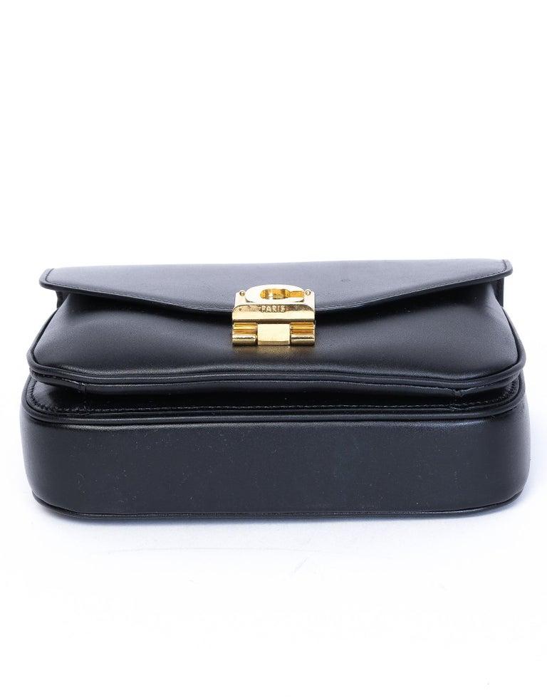Black Celine Shiny Calfskin Small C Bag 2018 For Sale