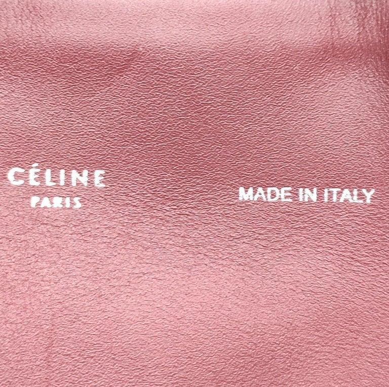 CÉLINE Shoulder bag in Burgundy Leather For Sale 1