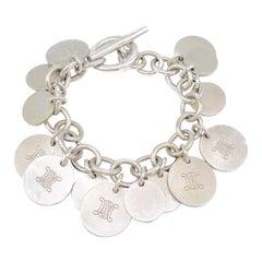 CELINE Silver Charm Bracelet Vintage 1990s