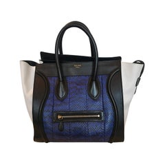 Celine Skin and Leather Mini Luggage Tote