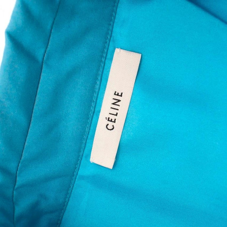 Celine Sky Blue Double Breasted Trench Coat XXS In New Condition For Sale In London, GB