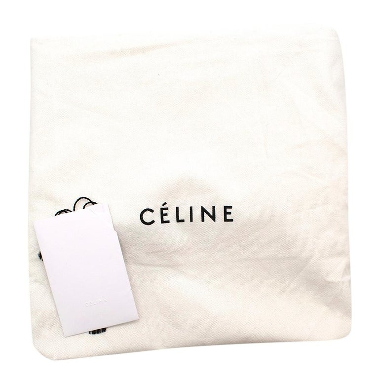 Celine Small Blue & Black Suede Leather Trapeze Bag - Size Small For Sale 6