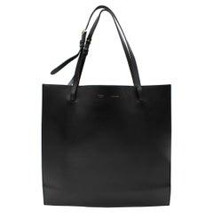 Celine Smooth Calfskin Triple Shopper Tote Black