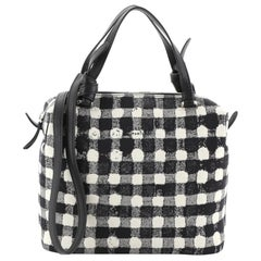 Celine Soft Cube Bag Vichy Fabric Small