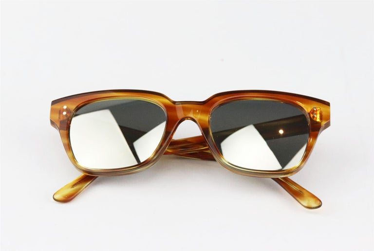 Women's or Men's Celine Square Frame Tortoiseshell Acetate Sunglasses For Sale