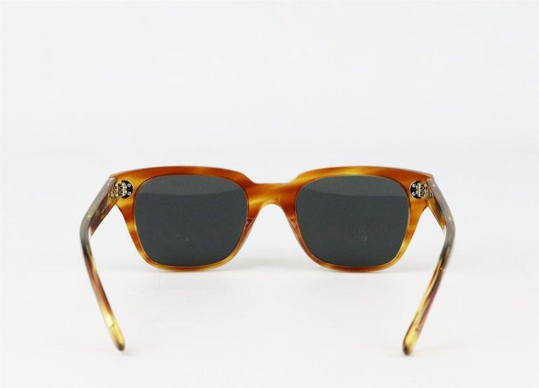Celine Square Frame Tortoiseshell Acetate Sunglasses For Sale 2