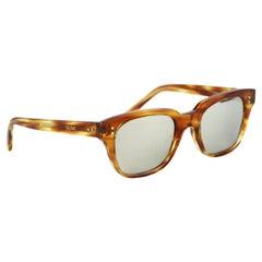 Celine Square Frame Tortoiseshell Acetate Sunglasses