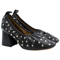 Celine studded black leather pumps 39