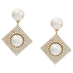 Céline Swarovski & Pearl Embellished Earrings